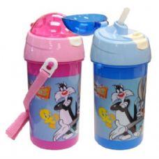 48 Units of Looney Tunes Water Bottle Flip Cap 17oz - Baby Utensils