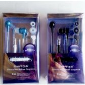 12 Units of Universal Stereo Handsfree Headset with In Ear Metal Ring