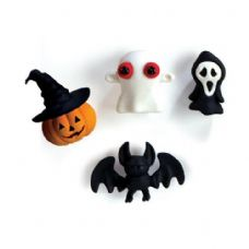 48 Units of 4-Ct Halloween 3D Eraser Pack - ERASERS