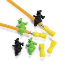 120 Units of Witches and Brooms Eraser - Erasers