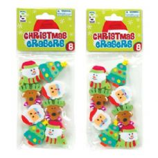 36 Units of 8-Ct Christmas Eraser Pack - Erasers