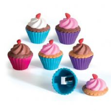 48 Units of Cupcake Shoppe Scented Eraser and Sharpener