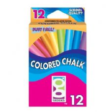 120 Units of 12 Ct Geddes Color Chalk Pack - Markers and Highlighters