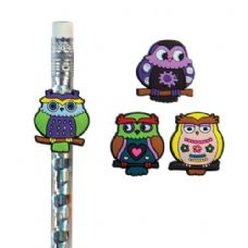 576 Units of What a Hoot Owl Pencil Topper - Pencil Grippers / Toppers