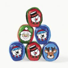 72 Units of Christmas Character Vinyl Kickball - Balls