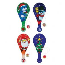 120 Units of Christmas Paddle Ball Game