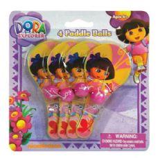 48 Units of Dora The Explorer Mini Paddle Ball Set - Summer Toys