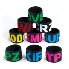 96 Units of Jumbo Silicone Text Ring - Rings