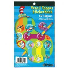 12 Units of Dr. Seuss Pencil Topper Sticker Book - Stickers