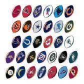 210 Units of NFL Football Prismatic Sticker Assortment - Stickers