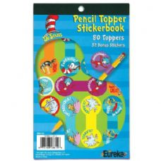24 Units of Dr Seuss Pencil Topper Sticker Book - Stickers