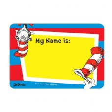 60 Units of 25-Ct Dr Seuss Name Tag Sticker Pack - Stickers