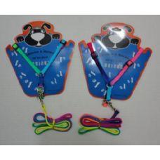 "36 Units of Medium Dog Harness & 48"" Leash-Rainbow - Pet Collars and Leashes"