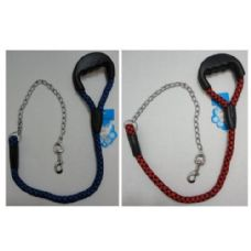 """24 Units of 40"""" Pet Leash with Gripper Handle [Rope & Chain] - Pet Collars and Leashes"""