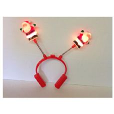 144 Units of Light Up Santa Headpiece - Light Up Toys