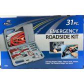 6 Units of 31 Piece Emergency Roadside Kit - Auto Maintenance
