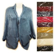 24 Units of Knit Woman sweater wrap shawl jacket assorted colors - Womens Sweaters & Cardigan