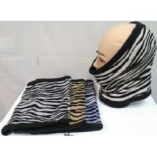 48 Units of Neck warmer/ Hat/ Mask, zebra style - Winter Scarves