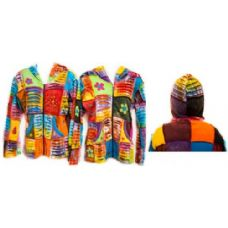 12 Units of Nepal Handmade Jackets Patchwork Assorted - Womens Sweaters & Cardigan