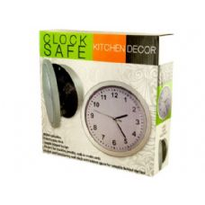 6 Units of Kitchen Wall Clock Safe - Closeouts