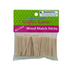 75 Units of Wood Craft Matchsticks - Craft Kits