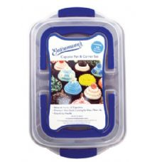 8 Units of Classic 12-Cup Muffin Pan with cover - Entenmann's Baking Ware