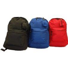 "24 Units of 17"" Premium Quality Backpack-Black - Backpacks 17"""