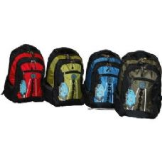 "24 Units of 19"" Heavy-Duty Backpack Mixed color"