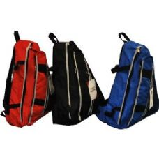 "24 Units of One Strap Backpack-Blue - Backpacks 18"" or Larger"