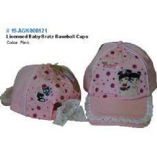 24 Units of Licensed Baby Bratz Baseball Caps - Baseball Caps & Snap Backs
