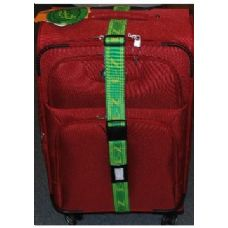 "36 Units of ""E-Z"" Luggage Strap-Green/Yellow"