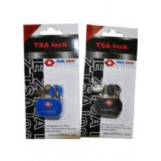 "36 Units of  ""E-Z"" TSA padlock Black"