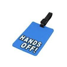 "100 Units of ""HANDS OFF"" Luggage Tag-Blue color"