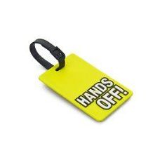 "100 Units of ""HANDS OFF"" Luggage Tag-Yellow color"