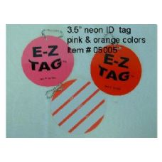 "300 Units of 3.5"" Neon Tag - Travel/ Luggage Items"