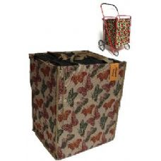 24 Units of Tapestry shopping cart Liner-Butterfly Pattern - Shopping Cart Liner