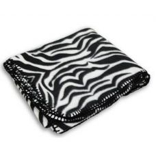 24 Units of Animal  Zebra Print Blankets - Fleece & Sherpa Blankets