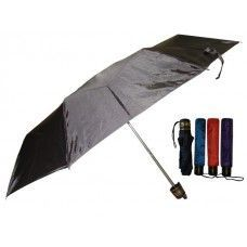 60 Units of 37 Inches Supermini Tri-Fold Solid Color Umbrella - Umbrellas & Rain Gear