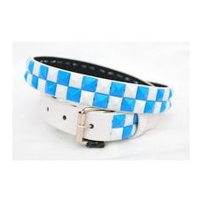 48 Units of 2-Row Metal Pyramid Studded kids Leather Belt Unisex boy girl
