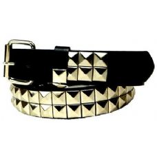 48 Units of Silver 2-Row Pyramid Studded kids Belt Unisex boy girl