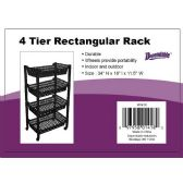 6 Units of 4 Tier Jumbo Rack On Wheels Black - Storage & Organization