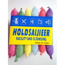 72 Units of 6 pcs assorted colors Sponge Cleaner - Cleaning Products