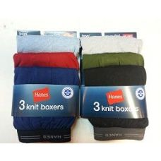 48 Units of HANES BOY'S 3PK. KNIT BOXER'S - Boys Underwear