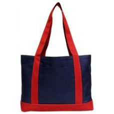 48 Units of P & O Cruiser Tote Bag-Navy/Red - Tote Bags & Slings