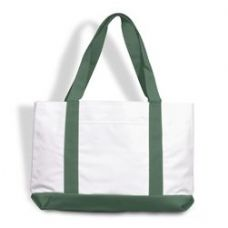 48 Units of P & O Cruiser Tote Bag-White/Forest - Tote Bags & Slings