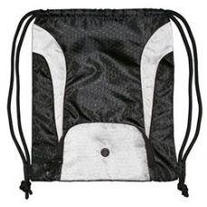 """48 Units of Santa Cruz Drawstring Pack BW - Backpacks 15"""" or Less"""