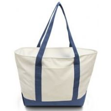 24 Units of Bay View Giant Zipper Boat Tote WNVY - Tote Bags & Slings