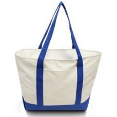 24 Units of Bay View Giant Zipper Boat Tote WROY - Tote Bags & Slings