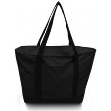 24 Units of Bay View Giant Zipper Boat Tote-Black - Tote Bags & Slings