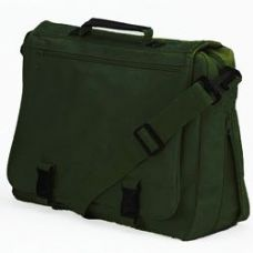 12 Units of GOH Getter Expandable Briefcase - Green - Lunch Bags & Accessories